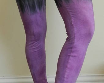 Tie Dye cotton Leggings custom made DIY your own color combination Yoga Pants Leggings hand dyed customized marbre dyed personalised