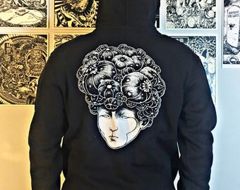 Lophophora williamsii/Cactus T-shirt/Peyote sweatshirt/wearable Art clothing underground streetwear/Coraggioiltopo/Bloom head/Psychedelic