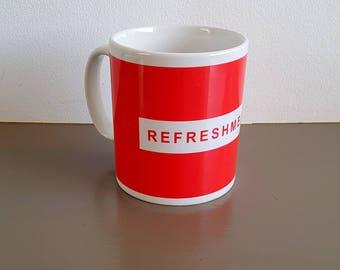 "Nottingham Forest Minimalist Graphic Design Mug - Trent End ""Refreshments"""