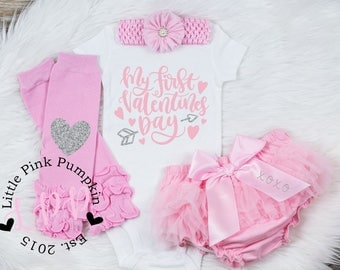 girls valentines day outfit baby girl valentines shirt my first valentines day newborn valentines outfit baby