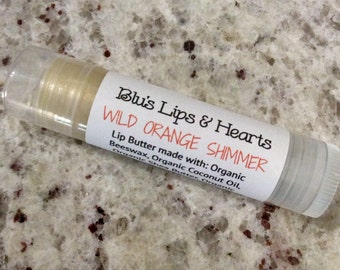 Wild Orange Lip Butter, Lip Balm with a light shimmer