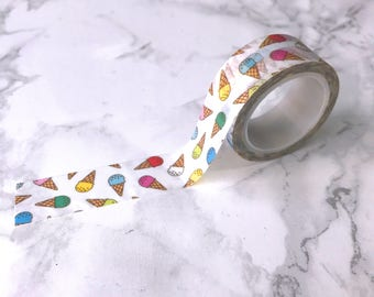 Ice Cream Washi Tape // Decorative Paper Masking Drafter Planner Scrapbooking Tape