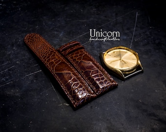 Ostrich watch strap handmade Leather, Handmade Vintage Leather Strap, Leather Watch Band