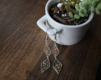 Queen Anne's Lace Dangle Drop Earrings