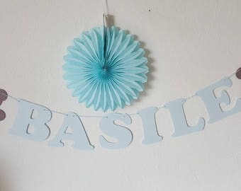 Small Garland birth - name + Teddy colors to choose