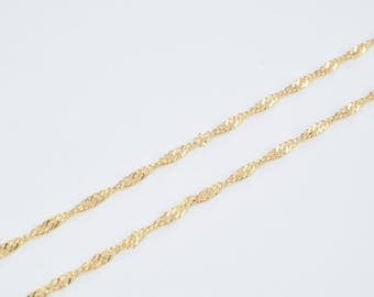 """18K Gold Filled Chain 17.75"""" Inch CG187"""