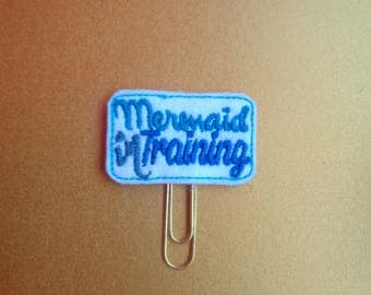 Mermaid In Training Sign -  - PaperClip - Felt Planner Clip - Planner Accessory - Stationery - Cute Paper Clip - Bookmark - Planner Clip