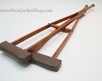 Wooden Crutches - Antique / Vintage / Wood / Medical / Orthopedic / Crutches
