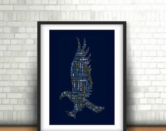 INSTANT DOWNLOAD - Ravenclaw  Word Art Print