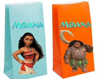 Moana Party Favor gift Bag Birthday Party Inspired Decorations & Decor