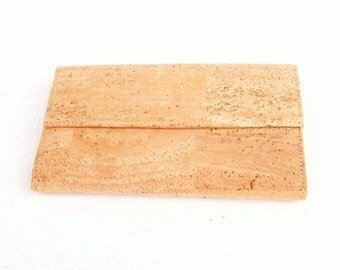 Cork women's wallet.  Vegan wallet. 100% Cork
