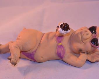 Porky Line - Pig figurine from Italy