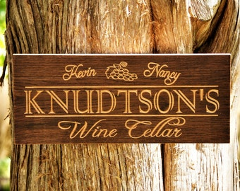 Wine Sign Wine Decor Unique Wine Gift Custom Wine Sign Wine Accessories Vineyard Sign Personalized Bar Sign Man Cave Cellar Winery Wine Pub