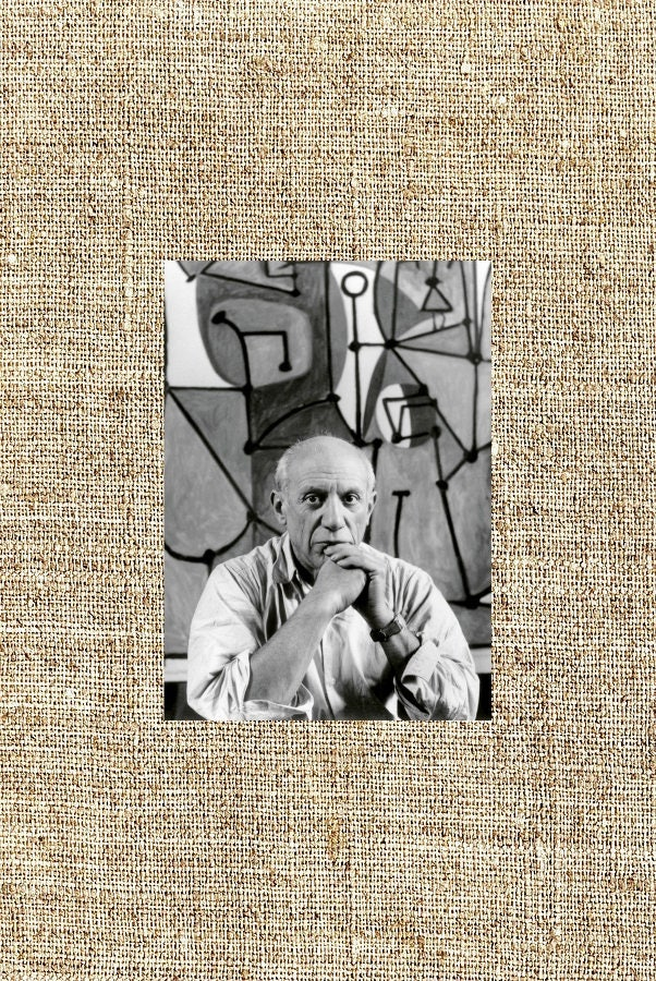 pablo picasso bild pablo picasso schwarz wei foto druck. Black Bedroom Furniture Sets. Home Design Ideas