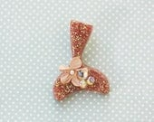 RESERVED for Taylor Bergman Believe in Magic Mermaid Tail  - Rose Gold Mermaid Tail Brooch