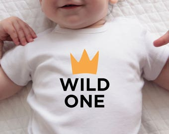 Wild One Birthday, First Birthday Outfit, Wild One Bodysuit, Stocking Filler, Baby Clothes, Baby Bodysuit, Gift-for-Mom, Baby Christmas