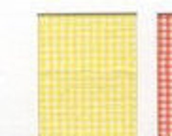 """Speckler Vogel Imperial MIcro Chex 1/32"""" gingham check 45"""" wide--priced by the yard--MAIZE (yellow) lightweight bat1ste"""