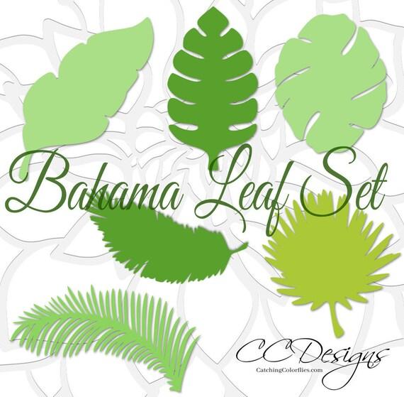 large paper leaf templates tropical leaf svg cut files large paper