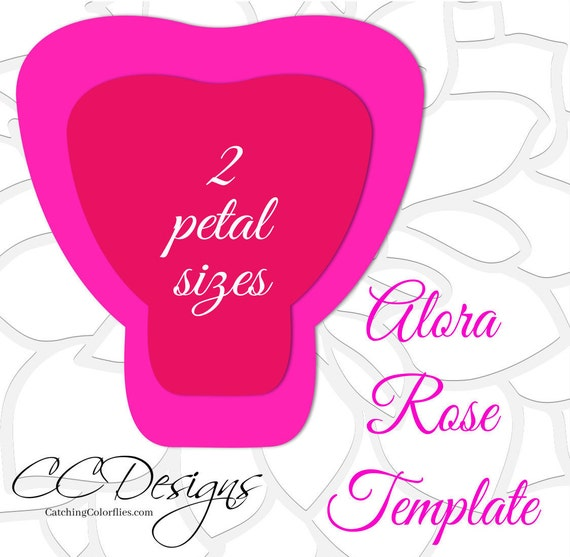 Large Paper Rose Template Giant Paper Flower Printable
