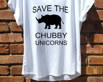 women shirt,women clothing,fashion shirt,white,women tee,workout shirt,save the chubby unicorns,workout shirt,rolled sleeve,white tee