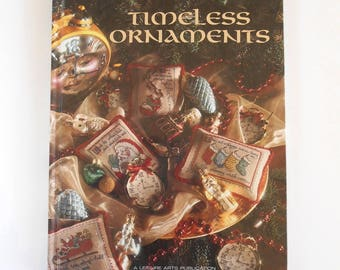 """Cross Stitch """"Timeless Ornaments"""" Book 10 Christmas Remembered Series / Leisure Arts Publication / Cross Stitch Christmas Tree Ornaments"""