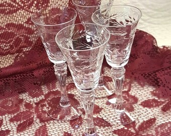 Cordials Etched Crystal