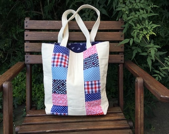Handmade, patchwork, tote bag