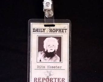 Daily Prophet ID Badge inspired by Harry Potter