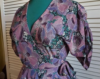 Viscose Printed Blouse '40s Inspiration