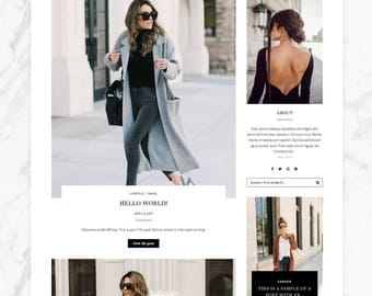 Responsive Wordpress Theme — Genesis Child Theme - Pathfinder —  Wordpress Blog Theme — Feminine Fashion Wordpress Theme