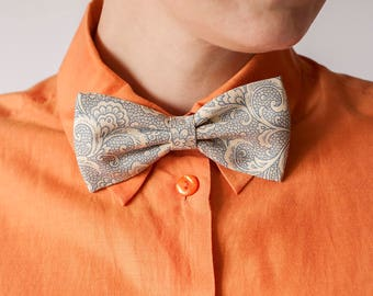 Cotton Bow Tie and Headband in One! Wedding Bow Ties, Bow Ties for Men, Ties, Groom Bow Tie