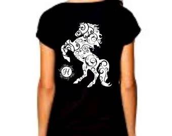Horse flourish   SVG   DFX  cut file  t-shirts  animals Hunting FANCY t shirt scrapbook vinyl decal wood sign t shirt cricut cameo