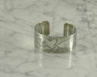 Sterling Silver Engraved Cuff