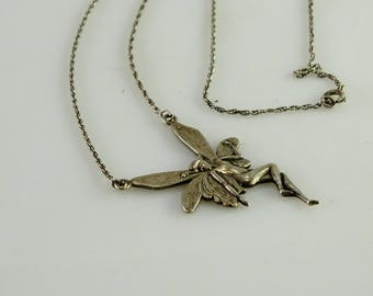 """Art Deco Sterling Pendant on a Sterling Integrated Chain 16 1/2"""""""