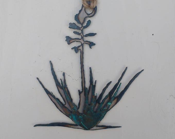 Patina Yucca Ornament