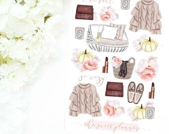 GIRLY FALL | Fall Deco Sticker Sheet