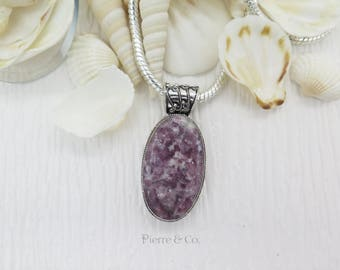 Antique Ruby in Pyrite Form Sterling Silver Pendant and Chain