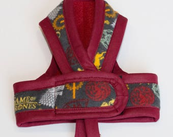 GAME OF THRONES Cat Harness by ComfyStyles / Walking Butterfly Vest / Ultra Light Design/ Sphynx Cat Clothes & all breeds