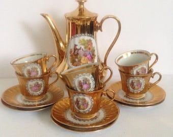 Vintage Bavaria Demitasse Coffee Tea Set Germany