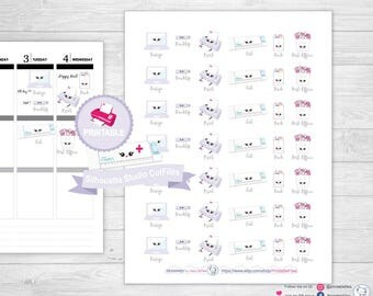 Kawaii Printable Planner Stickers, Planner Stickers, happy planner stickers, planner stickers for erin condren life planner, printable