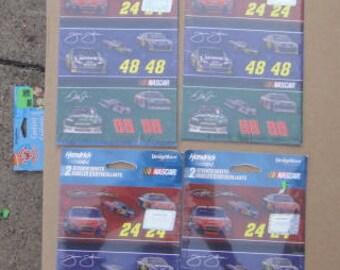 NASCAR stickers lot 4 packs , Dale Jr, Jimmy Johnson , party , Scrapbook , kids party