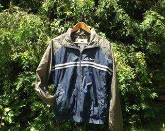 Vintage NIKE Windbreaker, 90s Windbreaker Nike, Nike Air Jacket, Nike 1990's, Nike Red Tag, Blue Nike Jacket, 90s Nike, Size S fits M, Retro