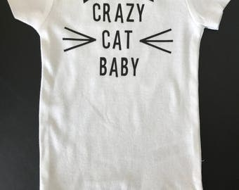 Crazy Cat Baby Onesie