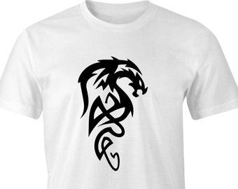 Tribal Art Dragon T-shirt, Tribal Dragon Shirt, Dragon T-Shirt, Tribal Art T-Shirt, Dragon Art T-Shirt, Dragon Style T-Shirt, Dragon Art.