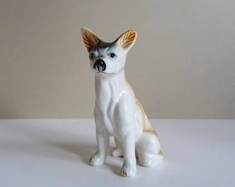 Bone China Dog Figurine, Pharaoh Hound, 1990s Ceramics, Puppy