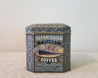 Ocean Queen Coffee Tin