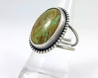 LaoOne * Sterling Silver Ring * beautiful Turquoise