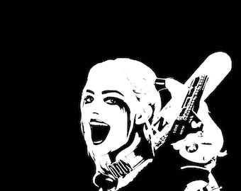 Harley Quinn Decal, Suicide Squad Decal, Harley Quinn, Suicide Squad, Car Decal, Yeti Decal