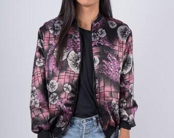 Floral-patterned Bomber Jacket