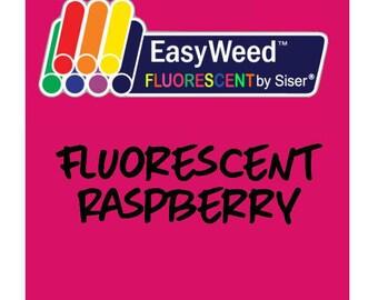 Siser EasyWeed Fluorescent Heat Transfer Vinyl - HTV - Fluorescent Raspberry